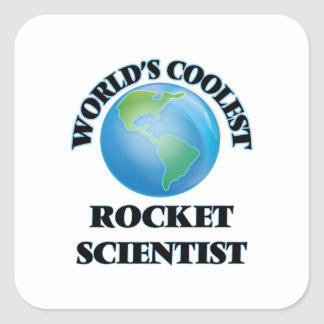 El científico más fresco de Rocket del mundo Pegatina Cuadrada
