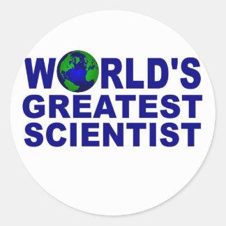 El científico más grande del mundo etiqueta redonda