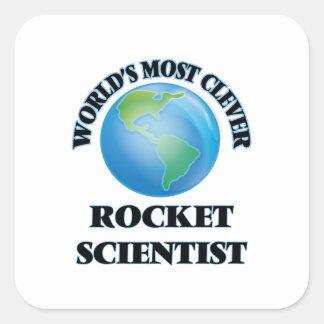El científico más listo de Rocket del mundo Pegatina Cuadrada