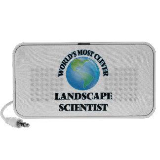 El científico más listo del paisaje del mundo portátil altavoces