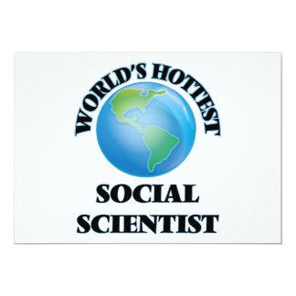 El científico social más caliente del mundo invitación 12,7 x 17,8 cm