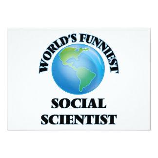 El científico social más divertido del mundo invitación 12,7 x 17,8 cm