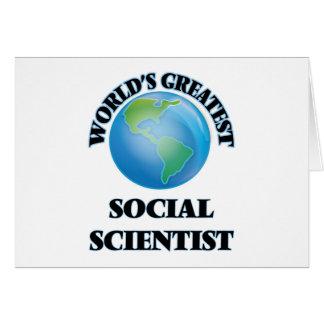 El científico social más grande del mundo tarjetón