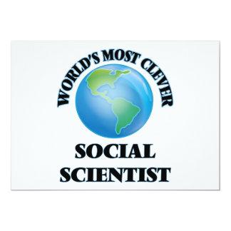 El científico social más listo del mundo invitación 12,7 x 17,8 cm