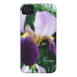 El cierre de color morado oscuro del iris para iPhone 4 Case-Mate protector
