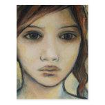 el cierre del chica encima del retrato postal