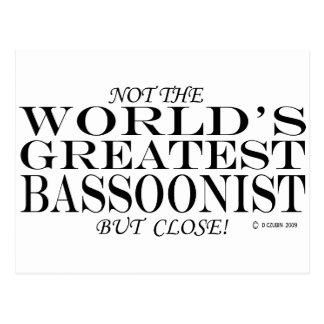 El cierre más grande del Bassoonist Postales