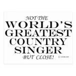 El cierre más grande del cantante de country postal