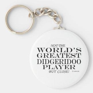 El cierre más grande del jugador de Didgeridoo Llaveros