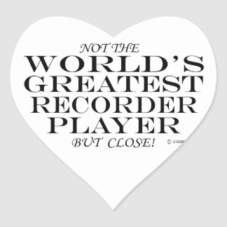 El cierre más grande del jugador de registrador pegatina en forma de corazón