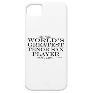 El cierre más grande del jugador de saxo tenor funda para iPhone SE/5/5s