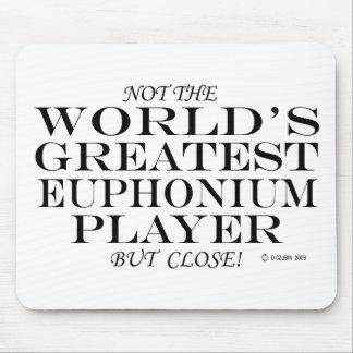 El cierre más grande del jugador del Euphonium Alfombrillas De Ratón