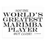 El cierre más grande del jugador del Marimba Postal
