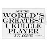 El cierre más grande del jugador del Ukulele Tarjeta De Felicitación