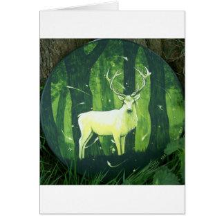 El ciervo blanco tarjeta