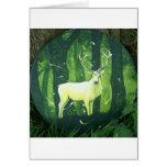 El ciervo blanco tarjeta de felicitación