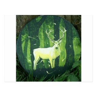 El ciervo blanco tarjeta postal