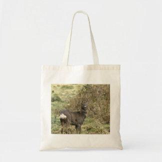 El ciervo de huevas en amarra el bolso bolsa tela barata