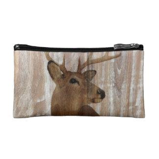 el ciervo de madera rústico del grano la caza está