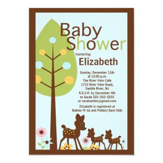 El ciervo del bebé hermana la invitación múltiple invitación 12,7 x 17,8 cm
