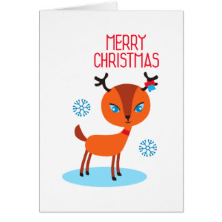 ¡El ciervo dice feliz Navidad! Tarjeta De Felicitación
