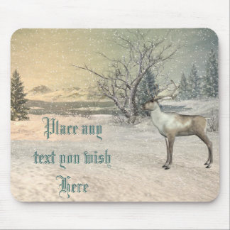 El ciervo la nieve es mousepad hermoso del navidad