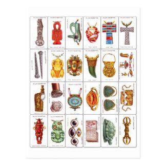 El cigarrillo de las voluntades retras del vintage tarjetas postales