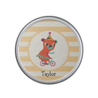 El circo anaranjado refiere la bicicleta; Rayas Altavoz Bluetooth