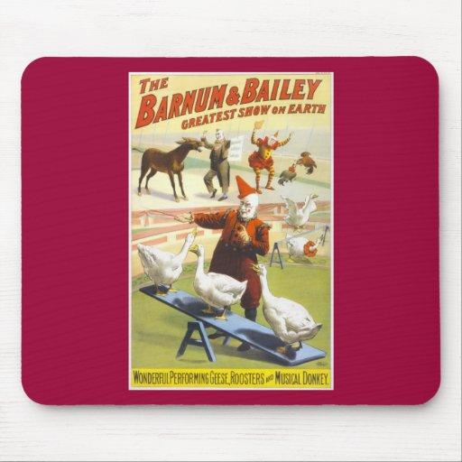 El circo de Barnum y de Bailey Alfombrillas De Ratones