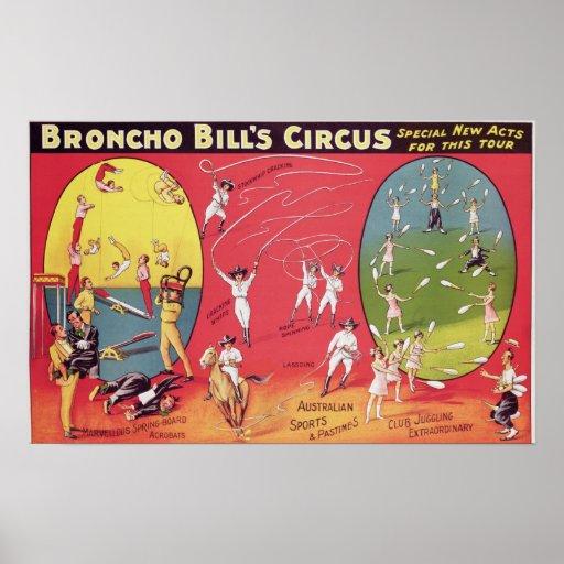 El circo de Bill del Broncho, Birmingham c.1890-19 Poster