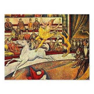El circo de Jorte Seurat (1891) Invitacion Personal