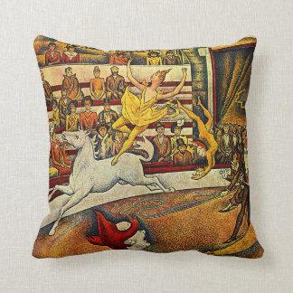 El circo de Jorte Seurat (1891) - payaso y jinete Cojines