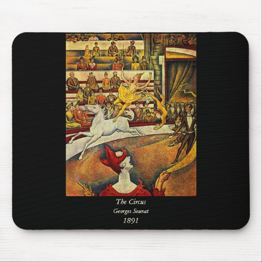 El circo de Jorte Seurat (1891) - payaso y jinete Tapetes De Raton