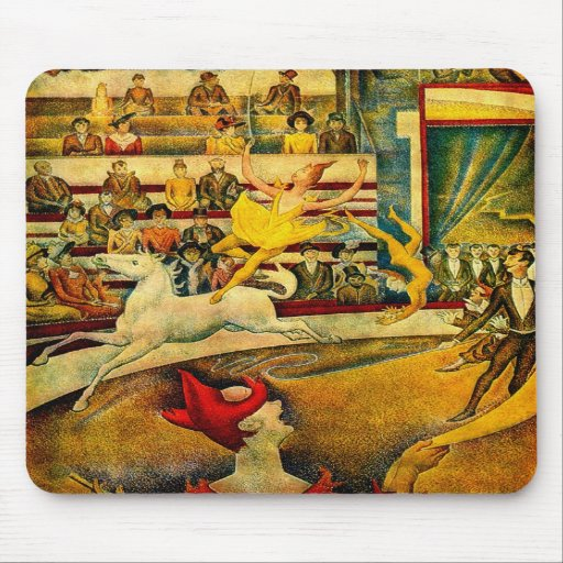 El circo de Jorte Seurat (1891) Alfombrilla De Ratones