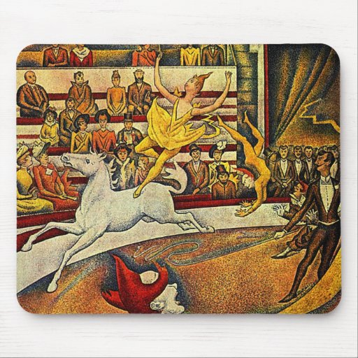 El circo de Jorte Seurat (1891) Tapete De Ratones