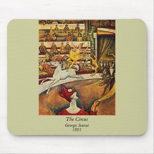 El circo de Jorte Seurat (1891) Tapetes De Ratones