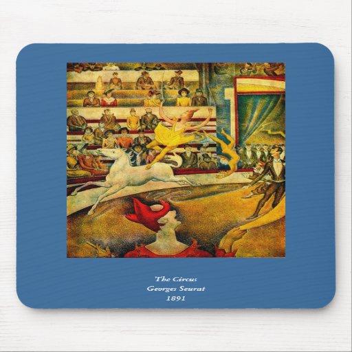 El circo de Jorte Seurat (1891) Alfombrillas De Ratón