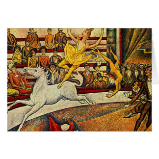 El circo de Jorte Seurat (1891) Tarjeta