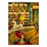 El circo de Jorte Seurat (1891) Tarjeta De Felicitación
