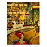 El circo de Jorte Seurat (1891) Tarjeta Postal