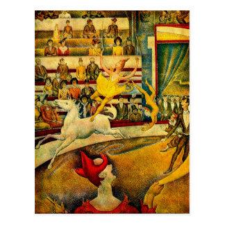 El circo de Jorte Seurat (1891) Tarjetas Postales