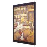 El circo de Jorte Seurat, Pointillism del vintage Impresiones En Lona