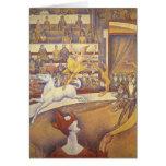 El circo de Jorte Seurat, Pointillism del vintage Tarjetón