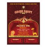 El circo del niño lindo marca a la fiesta de invitación 10,8 x 13,9 cm