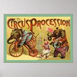 El circo del vintage del ~ de la procesión del cir poster
