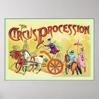 El circo del vintage del de la procesión del cir posters