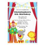 El circo LINDO embroma la invitación de la fiesta