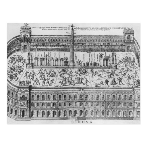El circo Maximus en Roma, c.1600 Tarjeta Postal