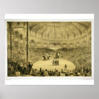 El circo nacional publicado por Auguste Bry ence Poster