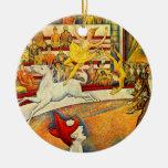 El circo por Seurat, bella arte del Pointillism Ornamento Para Reyes Magos